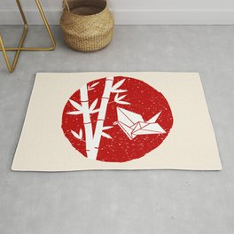 Simple Bamboo and Origami Rug