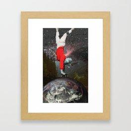 Skating Across The Universe Framed Art Print