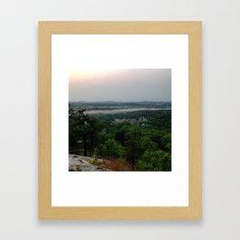 Fog on Marquette Mountain Framed Art Print