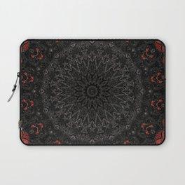 Red and Black Bohemian Mandala Design Laptop Sleeve
