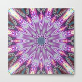 flower mandala ultra violet x Metal Print