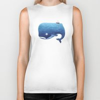 moby Biker Tanks featuring Moby Dick by Arianna Usai
