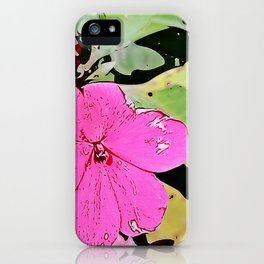 pink Impatiens - flower iPhone Case