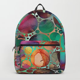 Dots on Painted Background 6 Backpack