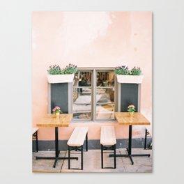 Pink Cafe in Sweeden Canvas Print