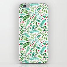 Christmas Florals iPhone & iPod Skin