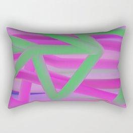 Happy Pink Rectangular Pillow