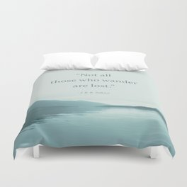 Blue Lake + Tolkien Quote Duvet Cover