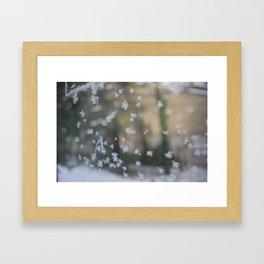 "It's frosty ""Ice Flower"" #2 #art #society6 Framed Art Print"