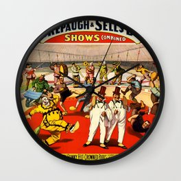 1899 Forepaugh & Sells Brothers Circus Clown Poster Wall Clock
