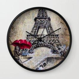Winter In Paris  Wall Clock