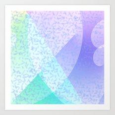 Soft Pastel Confetti Abstract Art Print