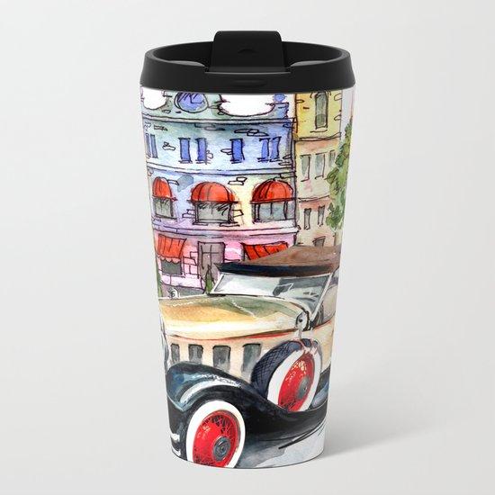Retro car Metal Travel Mug