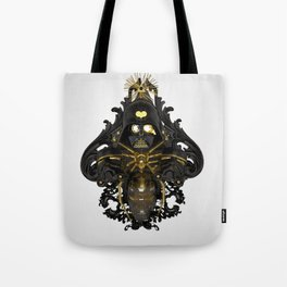 Black stress Tote Bag