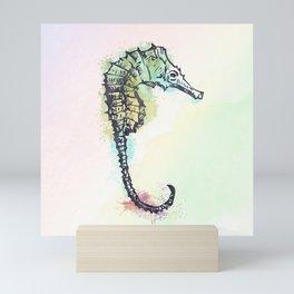 AP100 Watercolor sea horse Mini Art Print