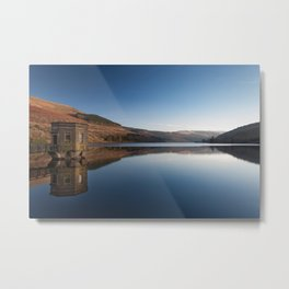 Talybont Reservoir Pump House Metal Print
