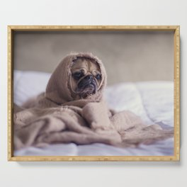 Snug pug in a rug Serving Tray