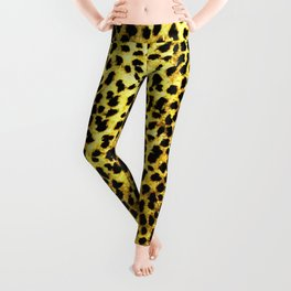 Leopard Print Animal Wallpaper Leggings
