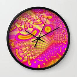 LollyPoP 3D Fused Glass Fractal Wall Clock