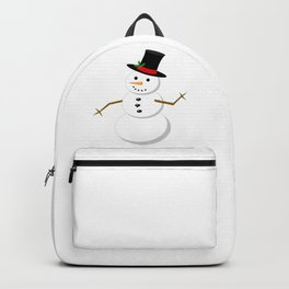 Cartoon Snowman Backpack