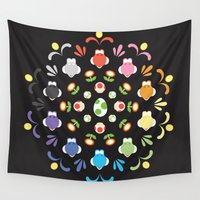 prism Wall Tapestries featuring Yoshi Prism by Ashley Hay