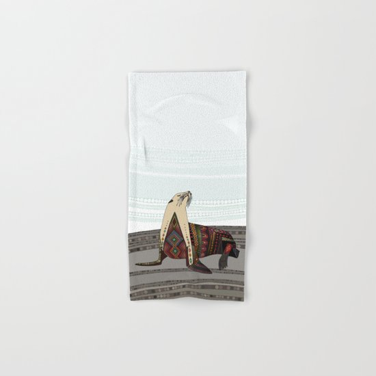 sea lion mono Hand & Bath Towel