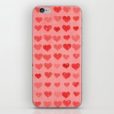 Pink Valentines Love Hearts iPhone & iPod Skin