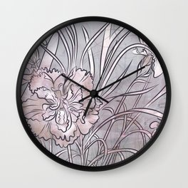 Carnation Creation- neutrals Wall Clock