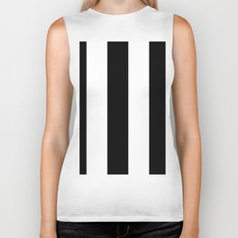 5th Avenue Stripe No. 2 in Black and White Onyx Biker Tank