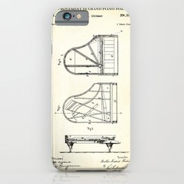 Grand Piano Patent - Old Paper iPhone Case