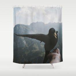 A wild Bird - landscape photography Shower Curtain
