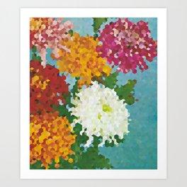 Chrysanthemums 3 Art Print