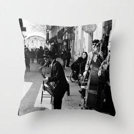 Spain Street Sax Throw Pillow