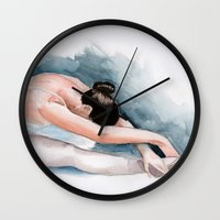 ballet Wall Clocks featuring Ballet by rchaem