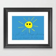 sun glasses Framed Art Print