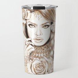 Aaliyah Vintage Art Travel Mug