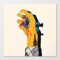 boneface Canvas Prints featuring I HAVE THE POWER by boneface