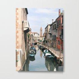 Venetian Water Alley Metal Print