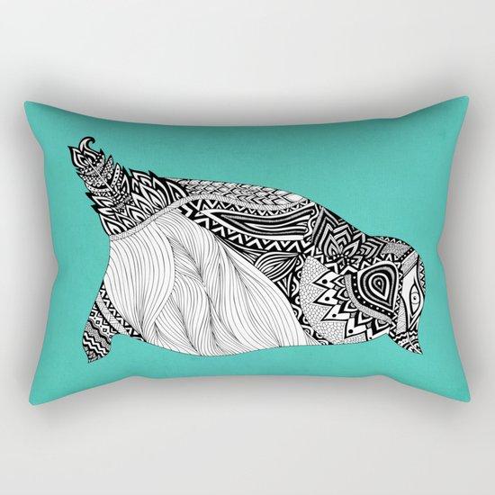 Tribal Penguin Rectangular Pillow