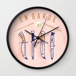 En Garde Wall Clock