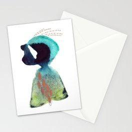 The Seeker - Abstract Watercolor Painting Stationery Cards
