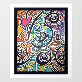Love Spectrum Watercolor Art Print