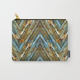 Knotty Plank Texture Carry-All Pouch