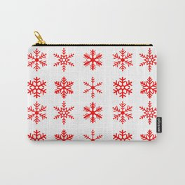 red snowflake seamless pattern Carry-All Pouch