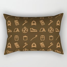 Iconographic Collage VI: Camping Rectangular Pillow