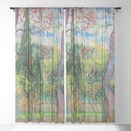 """Vincent van Gogh """"Parc de l'hôpital Saint-Paul"""" Sheer Curtain"""