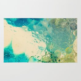 Retro Abstract Photography Underwater Bubble Design Rug