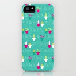 Mini Cactus Love iPhone Case