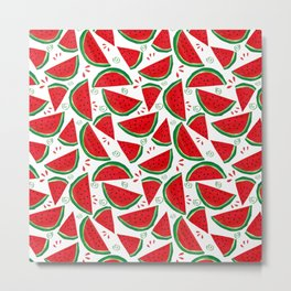 Watermelon time by Keyton Design Metal Print