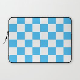 Cheerful Blue Checkerboard Pattern Laptop Sleeve